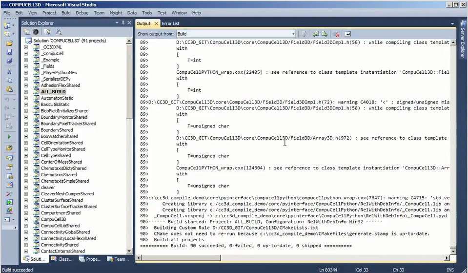 Compiling CC3D on Windows Part 2 (Advanced)